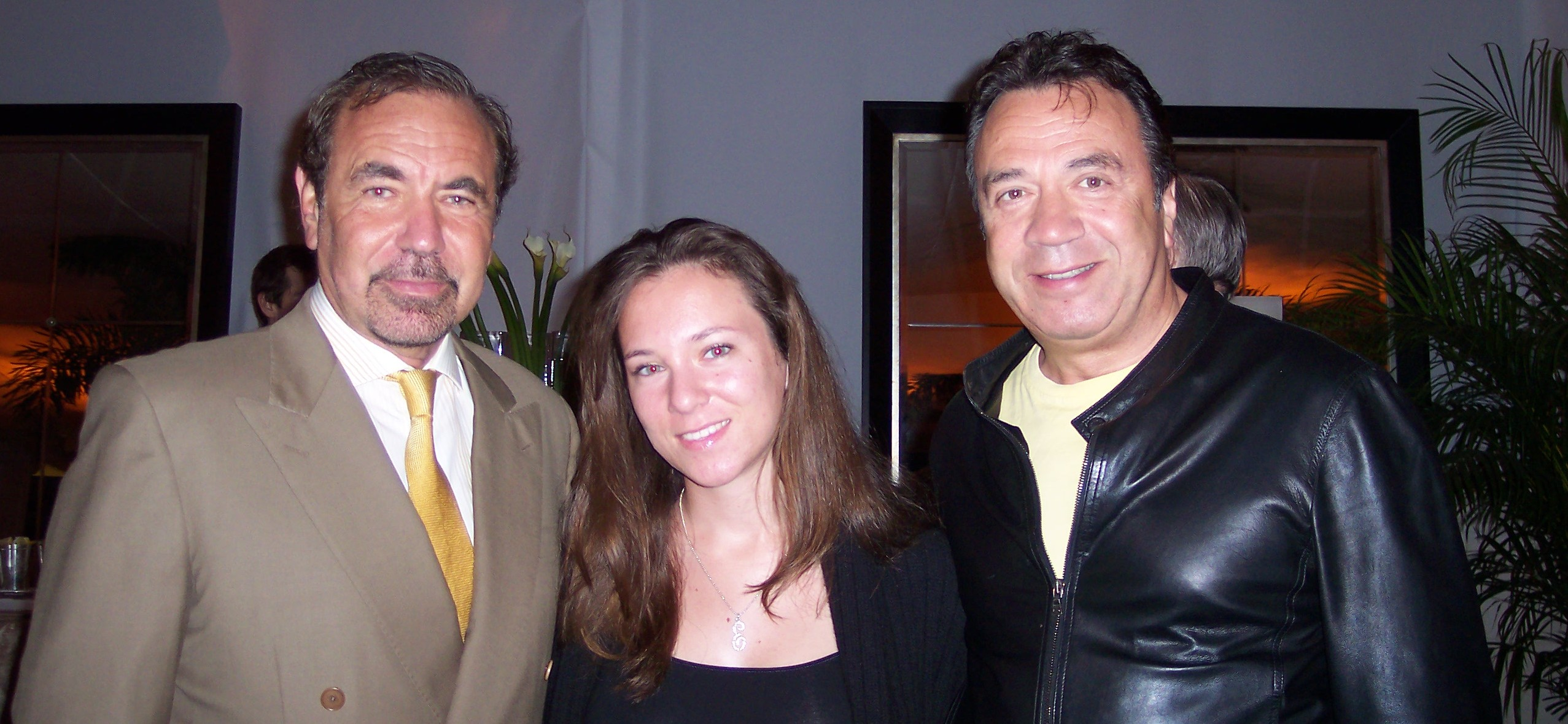 Roman with his daughter Elizabeth and Related Group's Jorge Perez
